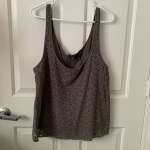 Gray lace tank top from AE! Size XL
